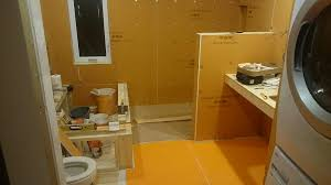 wall membranes and kerdi banded everything you can literally take a shower before installing the tile it s that waterproof