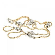 cartier yellow and white gold chain necklace