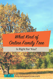 What Kind Of Online Family Tree Is Right For You Amy Johnson Crow