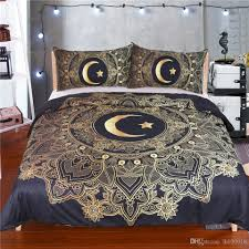 moon star galaxy bedding sets twin full queen king size space duvet cover set with pillowcases gold bedding queen comforter from lh050918 39 5 dhgate com
