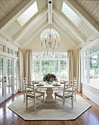 dining room perfect with sky lights 42 by 96 table seat 8 10
