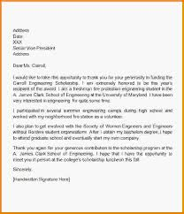 thank you letter scholarship college scholarship thank you letter