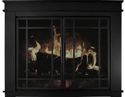 pleasant hearth fillmore fireplace glass door