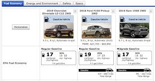 Chevy Truck Gas Mileage Chart Which 2019 Half Ton V8 Truck Gets The Best Mpg Compared