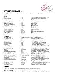 resume catherine eaton acting resume catherine eaton resume 1