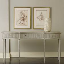 Modern History Home Ribbed Drawer Console Table