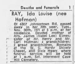 Ida Ray Death Notice - Newspapers.com