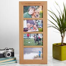 oak multi photo frame personalised