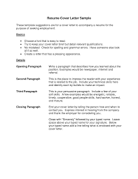 28 Resume Letter Examples Cover Free Sample Example Gcg Peppapp