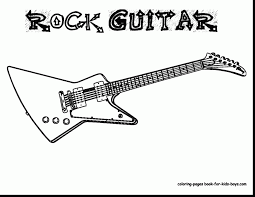 Small Picture extraordinary guitar coloring page with guitar coloring pages