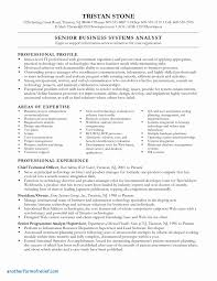 Business System Analyst Sample Resume Business Analyst Report Template Unique Business Analyst Sample 5