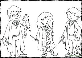 Simple Harry Potter Coloring Pages Colouring Kitchen Download