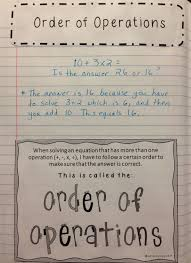 expressions variables and order of operations bundle with interactive notes