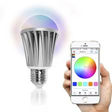 iphone controlled lighting. Flux Bluetooth Smart LED Light Bulb - Smartphone Controlled Dimmable Multicolored Color Changing Lights Works Iphone Lighting D