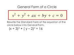 2 general form of a circle rewrite