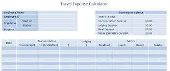 vacation expense calculator travel expense calculator for excel lifehacker australia