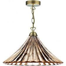 dar lighting ardeche antique brass single light ceiling pendant with endear lamp shades pair of modern cream shabby chic
