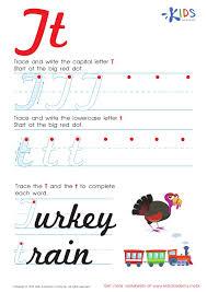 Cursive ABC printable worksheets for Preschool and Kindergarten Kids
