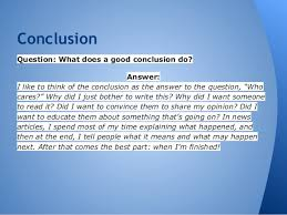 compare contrast essay 7 conclusionquestion what does a good conclusion