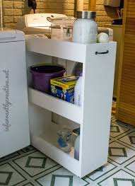 diy laundry room slim rolling storage cart free plans rogue engineer