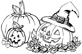 Small Picture Halloween Pumpkin Coloring Pages New zimeonme