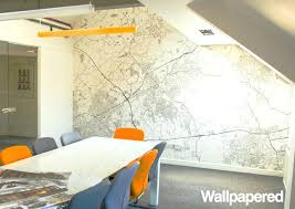 Wallpapered office home design Birch Tree Office Wall Paper Custom Postcode Wallpaper Contemporary Home Office Office Wallpaper Design Tall Dining Room Table Thelaunchlabco Office Wall Paper Custom Postcode Wallpaper Contemporary Home Office
