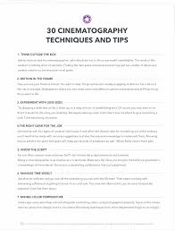 30 Best Cinematography Techniques Tips You Didnt Learn In