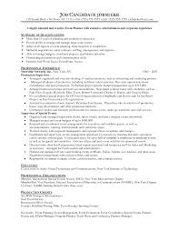 Special Events Coordinator Resume Example 2016 Recentresumes Com