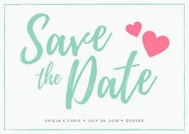 Save The Date Postcards Templates Mint Save The Date Wedding Postcard Templates By Canva