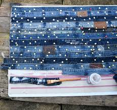 glueing waistbands to denim rug