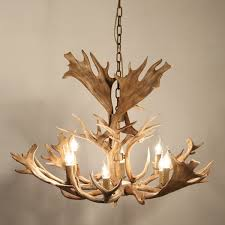 faux antler 43 wide rustic cascade antler chandelier 8 candle lights