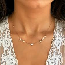 name necklace two names necklace gold name necklace name necklace with birthstone name jewelry mother s necklace gift