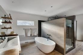 Glenrock Tiles In Light Grey Provide Dramatic Contrast Against The  Freestanding Tub By Victoria + Albert