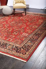 rugsville fine antique persian rose red tribal hand knotted rug 270 x 370