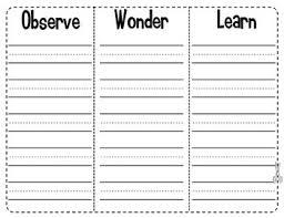 Freebie Owl Chart Observe Wonder Learn