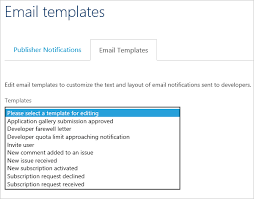 emailing list template configure notifications and email templates in azure api