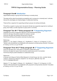 tpp argumentative essay task