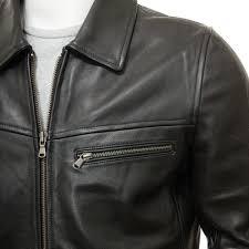 men s black leather