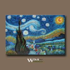 package mail 100 hand painted van gogh starry night european style decoration to