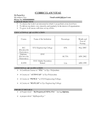 Transform Latest Resume Models For Engineering Freshers About How To