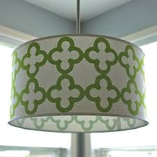 large drum pendant lighting. Pendant Lights, Exciting Drum Shade Light Large Lighting Green Grey Pattern