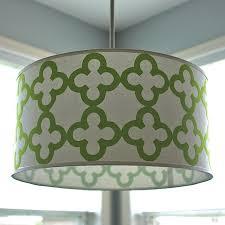 exciting drum shade pendant light large drum pendant lighting green grey pattern drum pendant light