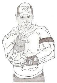 Small Picture John Cena Coloring Pages And itgodme