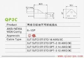 ul approved three core plug nema 6 15p plug ul standard power cord