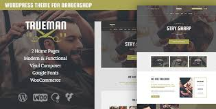 Barber Shop Website Trueman Hairdressers Barbershop Wordpress Theme