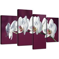 display gallery item 5 set of four living room plum canvas picture display gallery item 6 on plum flower canvas wall art with canvas pictures of white orchids on plum for your living room