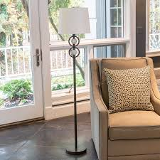Hess Outdoor Lighting Hess Double Circle Faux Marble Floor Lamp Brown Products