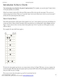 Guitar Bar Chords Chart Pdf Chord Archives Page 10 Of 12 Pdfsimpli
