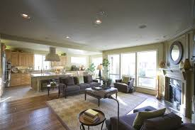 Open Living Room And Kitchen Designs Exterior Simple Decoration