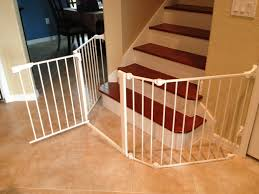 baby gate for stairs with banister and wall